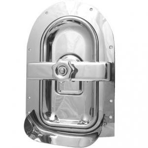 Búvónyílás fahordóra fél ovál 430x235 mm befelenyíló (A19MED)