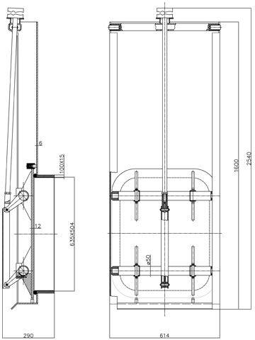 Búvónyílás guillotine nyitású 630x500 mm (G1-630x500)