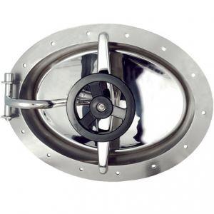 Búvónyílás fahordóra ovális 440x310 mm befelenyíló (A24)
