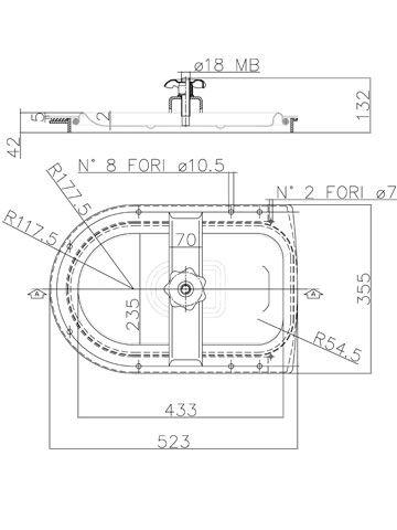 Búvónyílás fahordóra félovál 430x235 mm befelenyíló (A19MED)