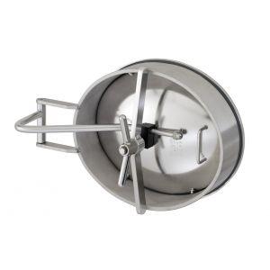 Búvónyílás alsó ovális 485x395 mm befelenyíló (200PES) zsanérral