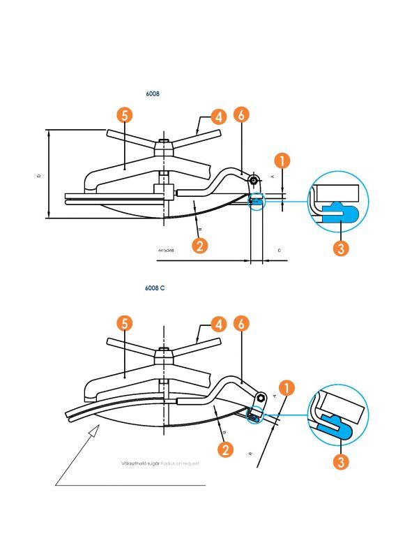 Búvónyílás alsó ovális 340 x 440 mm befelé nyíló (6008)