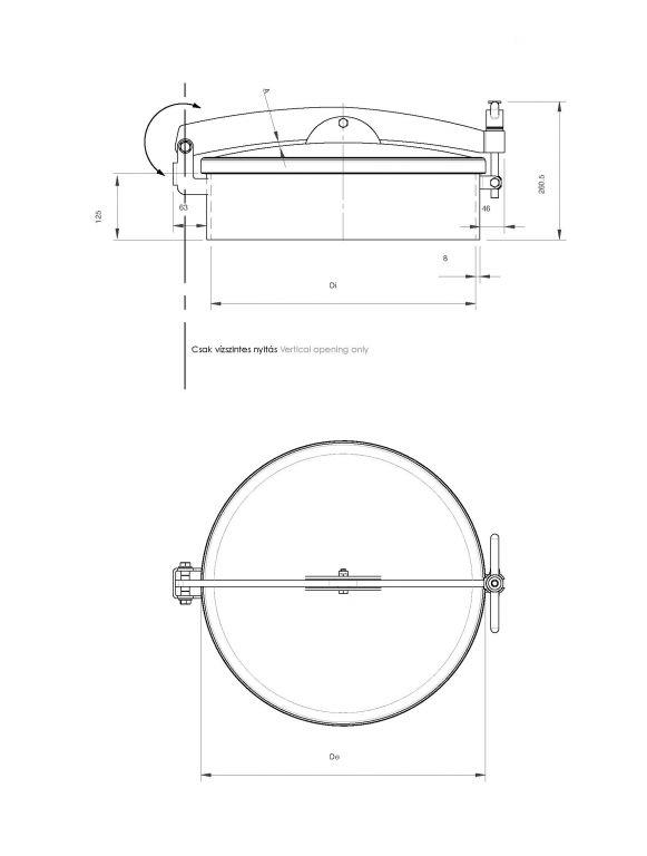 Búvónyílás kerek hátsó nyílással (6025RM)