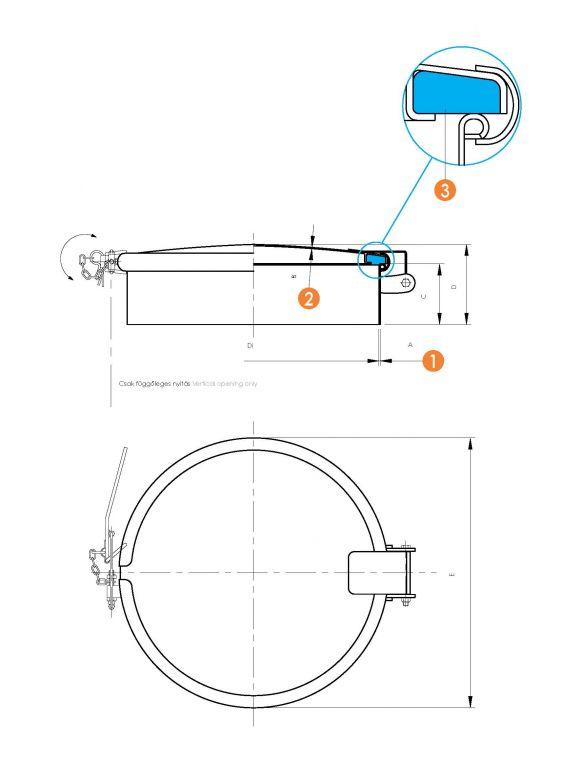 Búvónyílás kerek (6029A)