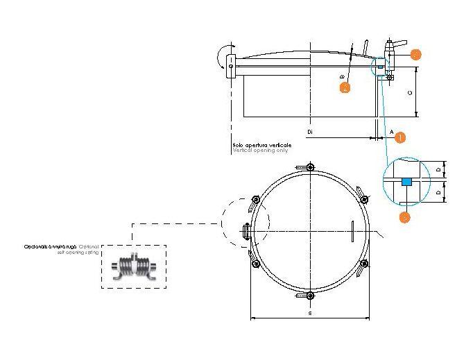 Kerek búvónyílás periférikus zárakkal (6025L)