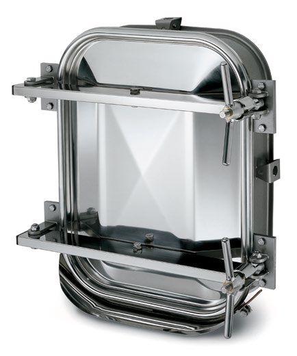 Búvónyílás alsó négyszögletes 410x530 mm kifelenyíló (6012CM)