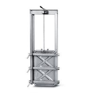 Búvónyílás négyszögletes guillotine ajtóval 430 x 730 mm (6015E)