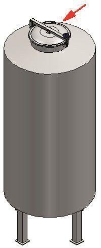 Búvónyílás kerek periférikus zárakkal (6028A)
