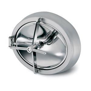 Befelé nyíló ovális búvónyílás csuklós karral 340 x 440 mm (6009A)