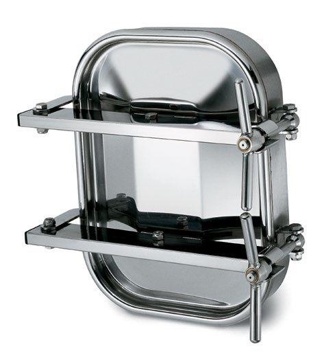 Kifelé nyíló négyszögletes, vízszintes búvónyílás 310 x 420 mm (6010G-H)
