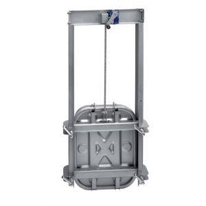 Négyszögletes búvónyílás guillotine ajtóval 403 x 530 mm (6015B)