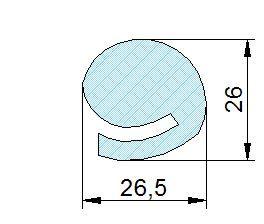 Búvónyílás alsó ovális 544 x 440 mm befelé nyíló (200/R)
