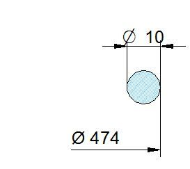 Búvónyílás felső kerek 458 mm kifelenyíló (450/P)