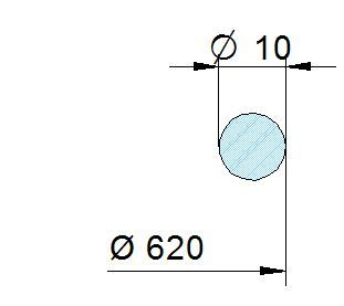 Búvónyílás felső kerek 608 mm kifelenyíló (600/P)