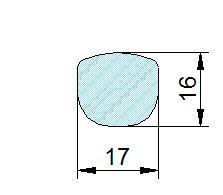Búvónyílás alsó ovális 485 x 395 mm befelé nyíló (200PES)