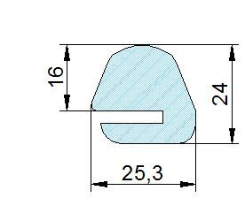 Búvónyílás alsó ovális 511x372 mm befelenyíló (200/RP)