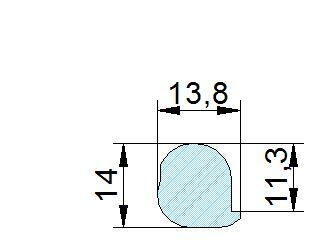 Búvónyílás alsó négyszögletes 235 x 185 mm kifelé nyíló (285)