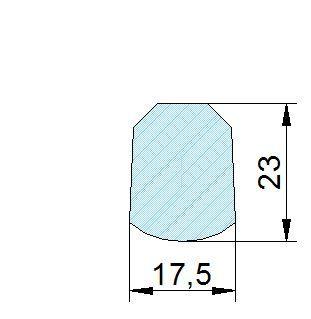 Búvónyílás alsó négyszögletes 332x440 mm kifelenyíló (160)
