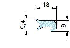 Búvónyílás felső kerek 306 mm kifelenyíló (T1/300)