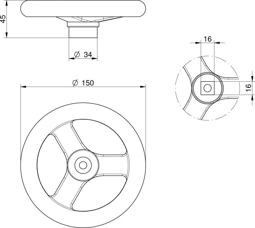 Búvónyílás alsó kerek 306 mm kifelé nyíló (210)
