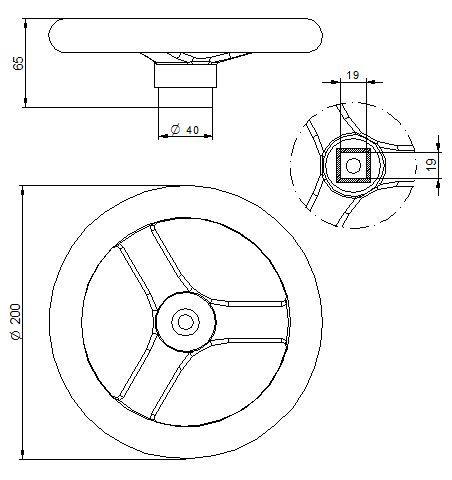 Búvónyílás alsó kerek 404 mm kifelé nyíló (220/E)