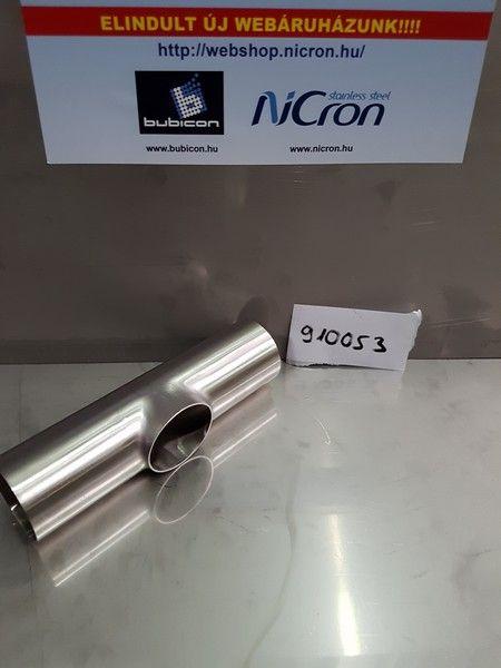 Rövid t-idom ISO 38 x 1.2, 304