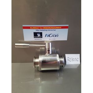 Golyóscsap élelmiszeripari DIN AISI304 Clamp/Clamp (DN040)