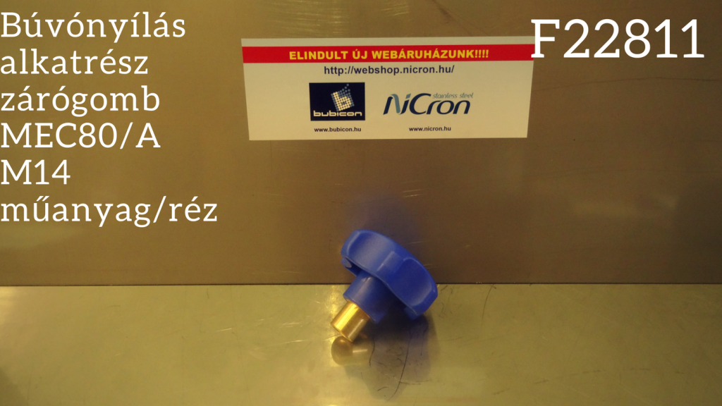 Búvónyílás alkatrész zárógomb MEC80/A M14 műanyag/réz