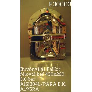 Búvónyílás FaHor félovál bef 430x260 3,0 bar AISI304L/PARA E.K. A19GRA