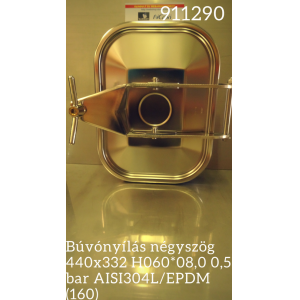 Búvónyílás négyszög 440x332 H060*08,0 0,5 bar AISI304L/EPDM (160)