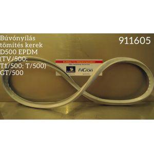 Búvónyílás tömítés kerek D500 EPDM (TV/500; T1/500; T/500) GT/500