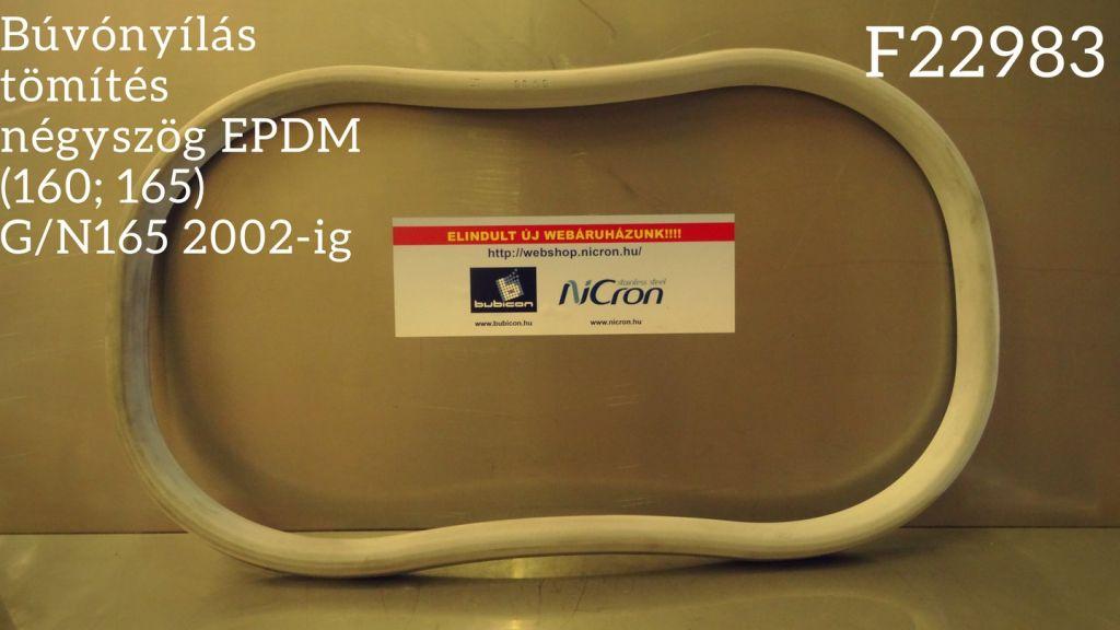 Búvónyílás tömítés négyszög EPDM (160; 165) G/N165 2002-ig