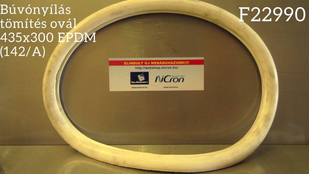 Búvónyílás tömítés ovál 435x300 EPDM (142/A)