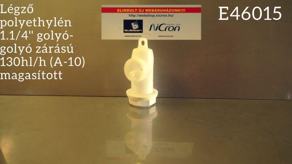Légző polyethylén 1.1/4'' golyó-golyó zárású 130hl/h (A-10) magasított
