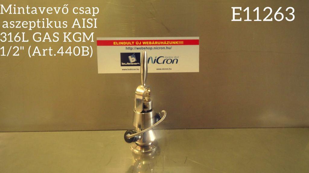 """Mintavevő csap  aszeptikus AISI 316L GAS KGM 1/2"""" (Art.440B)"""