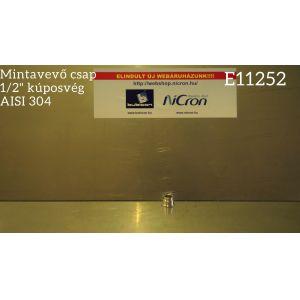 """1/2"""" kúposvég mintavevő csaphoz AISI 304"""