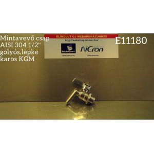 Mintavevő csap AISI 304 1/2'' golyós,lepke karos KGM