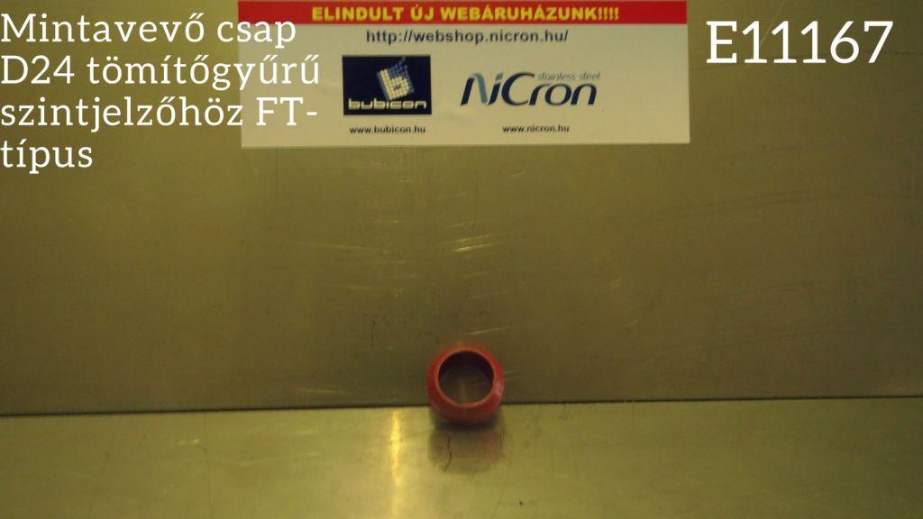 Mintavevő csap D24 tömítőgyűrű szintjelzőhöz FT-típus