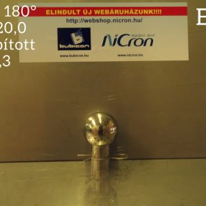 Mosógömb 180° D40-22,0/20,0 AISI316 lapított vállú FM 1,3 mm