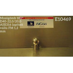 4443391e14 Mosógömb 180° D40-22,0/20,0 AISI316 lapított vállú FM