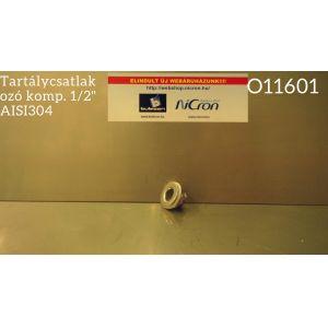 """Tartálycsatlakozó komp. 1/2"""" AISI304"""