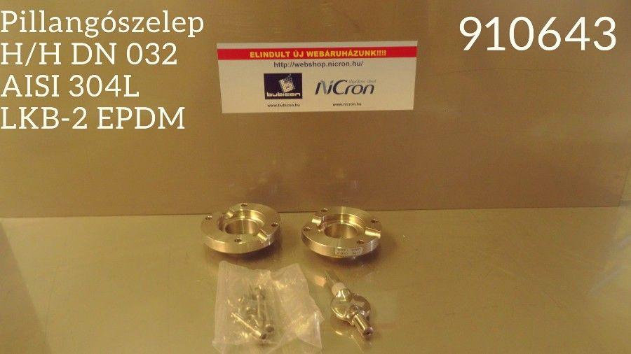 Pillangószelep H/H DN 032 AISI 316L LKB-2 EPDM