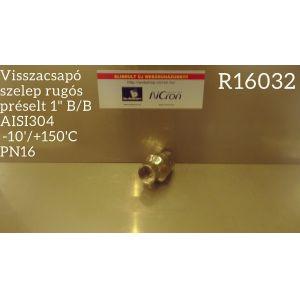 """Visszacsapó szelep rugós préselt 1"""" B/B AISI304  -10'/+150'C PN16Visszacsapó szelep rugós préselt 1"""" B/B AISI304  -10'/+150'C PN16"""