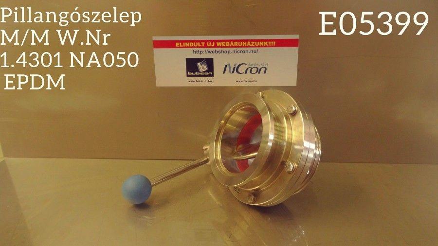 Pillangószelep M/MOR AISI304 DN080 Silicon RO-típus