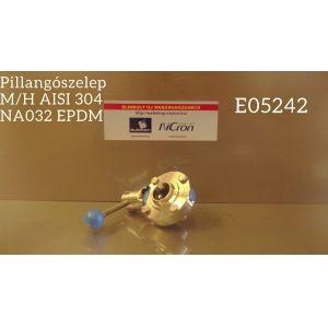 Pillangószelep M/H AISI 304 NA032 EPDM