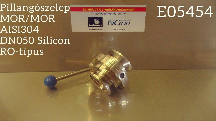Pillangószelep MOR/MOR AISI304 DN050 Silicon RO-típus