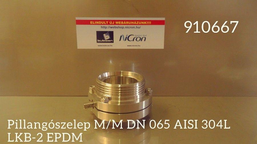 Pillangószelep M/H DN 065 AISI 316L LKB-2 EPDM