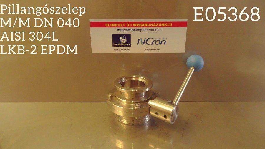 Pillangószelep M/MOR AISI304 DN050 Silicon RO-típus