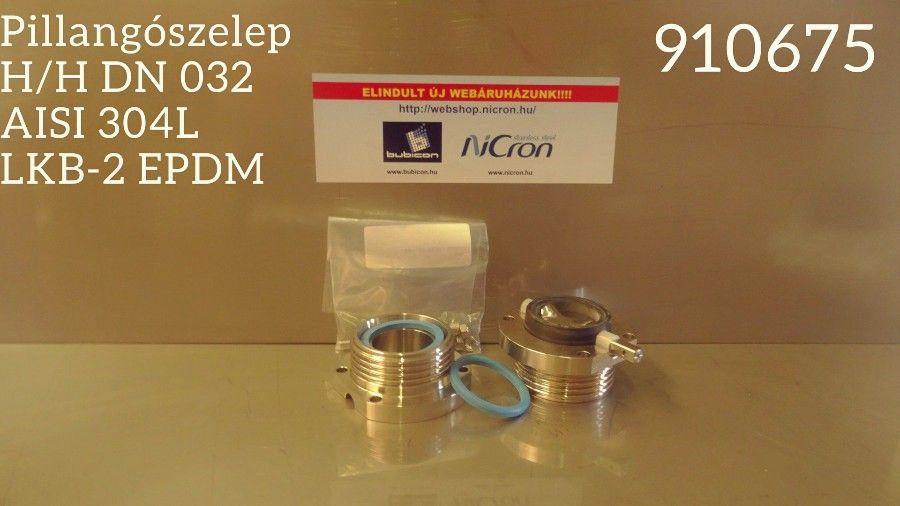 Pillangószelep M/M DN 040 AISI 304L LKB-2 EPDM