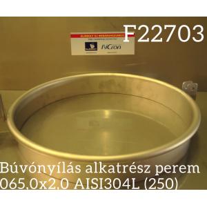 Búvónyílás alkatrész perem 065,0x2,0 AISI304L (250)